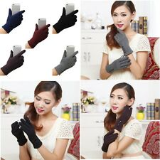 Women Cashmere Touch Screen Thermal Knit Wool Warm Gloves Ladies Winter Mittens