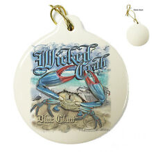 Wicked Crab Light Blue -Christmas Xmas Tree Porcelain Ornaments