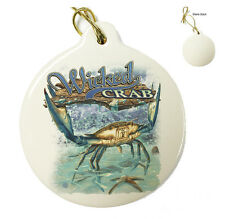 Wicked Fish Crab and Star Fish - Christmas Xmas Tree Porcelain Ornaments