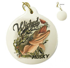 Wicked Fish Muski - Christmas Xmas Tree Porcelain Ornaments