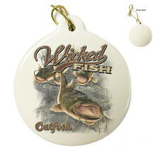 Wicked Catfish -Christmas Xmas Tree Porcelain Ornaments