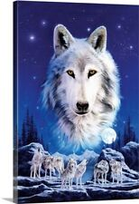 Premium Thick-Wrap Canvas Wall Art entitled Night of the Wolves