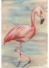 Poster Print Wall Art entitled Pink Flamingo I