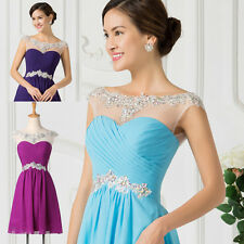 Short Mini Chiffon Prom Party Homecoming Evening Gown Cocktail Bridesmaid Dress