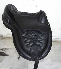 Genuine Buffalo Leather Treeless Horse Saddle  Unisex