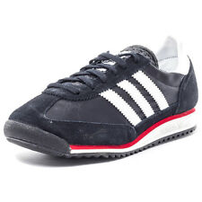 Adidas Originals SL72 Womens Trainers Nylon & Suede Black White Red New Shoes