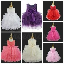 Baby Girls Princess Wedding Pageant Birthday Party Baptism Flower Easter Dress