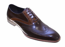 Moretti Mens Brown Wingtip Oxford Leather Dress Shoes