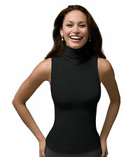 SPANX Shapewear On Top and in Control Sleeveless Turtleneck Top 974 Black