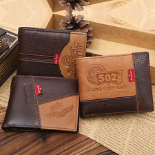 Men Genuine Leather Bifold Wallet Credit ID Card Holder Coin Purse Case FreeShip