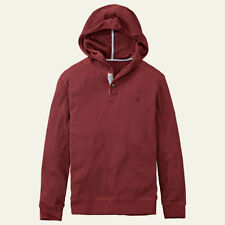 Timberland Men's Long Sleeve Wharf River Waffle Cotton Knit Red Hoodie 8203J