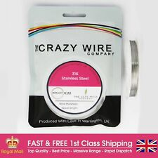 0.33mm (28 AWG) - 316 Marine Grade Stainless Steel Wire -Various Spools