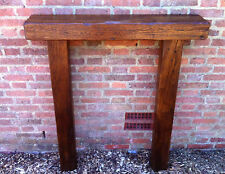 Oak fire Surround rustic solid oak mantle piece 8 x 4 beams country cottage