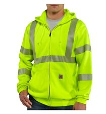 Men's Carhartt 100504 High-Visibility Zip-Front Class 3 Thermal-Lined Sweatshirt