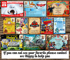 8 X PERSONALISED BOYS BIRTHDAY PARTY INVITATIONS/THANK YOU CARDS  + ENVELOPES