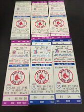 1981 Boston Red Sox Full Tickets YOU PICK ONE GAME Evans Rice Fisk Strike Ojeda