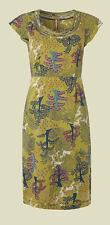 Ex Whitestuff Mustard Green Summer Tea Dress Sizes 8 - 18 BNWOT