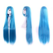 Women Long straight Cosplay Party Costume Straight Wig Full Long Wig Multi-Color