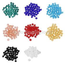 50pcs Loose Glass Crystal Bicone Spacer Beads 4mm For Jewelry Making Crafts
