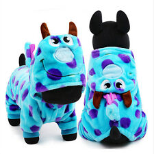 Cute Cozy Blue Bubble Dragon Cosplay Clothes Soft Winter Coat for Pet Dog Puppy