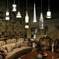 Modern Ceiling Light Lighting Crystal LED Pendant Chandelier Lamp Shade Fixture