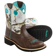 Ariat Fatbaby Cowgirl Cowboy Women's Western Riding Boots - Leather Saddle Vamp
