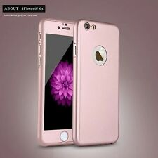 Full Protection Colorful Hard 360 Degree CaseCover w/FREE Tempered Glass as Gift