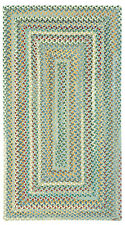 Capel Rugs Sherwood Forest Wool Country Lodge Rectangle Braided Rug #400 Misty