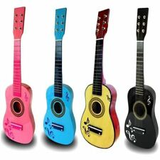 """23"""" CHILDRENS KIDS WOODEN ACOUSTIC GUITAR MUSICAL INSTRUMENT CHILD TOY XMAS GIFT"""