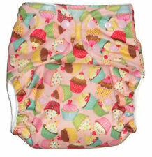 Cloth diaper Pocket  with 1 pc Insert- Cupcake  Pattern