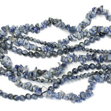 Denim Lapis - choose from 4mm or 6mm smooth round beads or chip beads