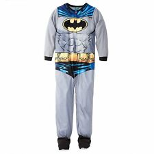 Batman With Cape Footed Blanket Sleeper Pajamas Size 6/7 or 8 NWT