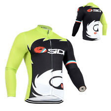 Men Team Cycling Jersey Long Sleeve Tops Shirt Gear Bike Riding Maillots Clothes
