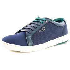 Ted Baker Keeran 3 Mens Leather & Cotton Dark Blue Trainers