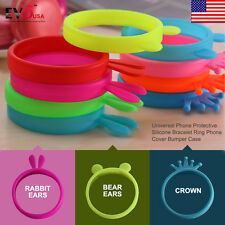 3 Styles Universal Protective Silicone Bracelet Ring Phone Cover Bumper Case