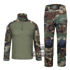 Emerson G3 Combat Shirt & Pants Set Tactical BDU Combat Uniform Set w/ Knee Pads