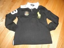 Polo Ralph Lauren Boy's Shirt Black Rugby Big Pony Baby Toddler 2T 3T 4T NWT