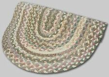 New Englands Beacon Hill Wool Country Oval Braided Rug Tan Green Mauve #35