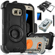 Samsung Galaxy S7 Edge Belt Clip Shell Holster Combo Phone Case Kick Stand Cover