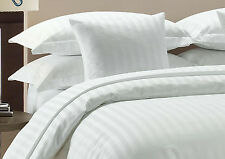 Offer 1000/1500 TC Hotel White Striped 100%Egyptian Cotton All Size Bedding Item