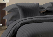 Offer 1000-1500TC Hotel Dark Gray Striped 100% Egyptian Cotton All Size Beddings