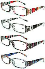 Womens Multicolor Aztec Tie Dye Burnout Style Fashion Readers Reading Glasses