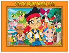 Jake and the Never land Pirates Personalised Cake Topper A4 Wafer /Icing sheet