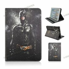 Cartoon Batman Tablet Case for Apple iPad PU Leather Case Stand Flip Cover Skin