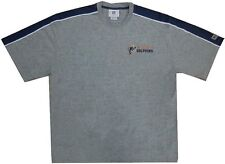 Miami Dolphins NFL Mens Vintage Embroidered Logo Shirt Gray Size 2XL