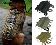 1X Tactical Police Dog Vest Clothes Harness Molle USA Milspec Canine Loop A