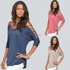Fashion Women's Summer Casual Loose 3/4 Sleeve Casual Blouse Shirt Tops  NC89