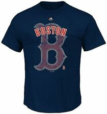 Boston Red Sox MLB Majestic League Domination Men's Navy Shirt Big & Tall Sizes
