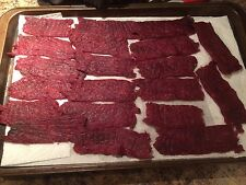 Quality Tender HOMEMADE BEEF JERKY 1/4 Pound FREE SHIPPING (10 Flavors) Protein!