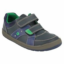 MALTBY POP INF BOYS CLARKS FLASHING LIGHTS RIPTAPE STRAP LEATHER CASUAL SHOES